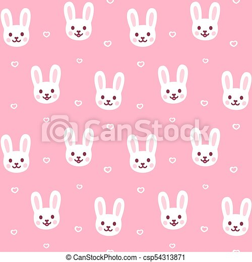 Cute Bunny Pattern Cute Cartoon Rabbit Pattern Easter Bunny Face Awesome Bunny Pattern