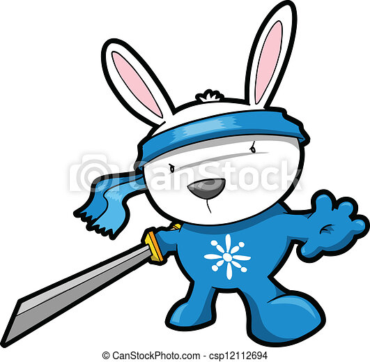 cute bunny rabbit ninja vector cute bunny rabbit ninja eps rh canstockphoto com cute bunny rabbit clipart cute easter bunny clipart