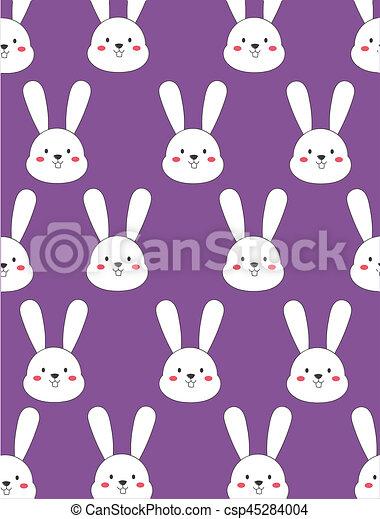 Cute Bunny Wallpaper In Purple Background