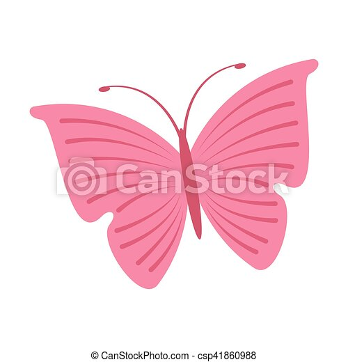 cute butterfly pink icon - csp41860988