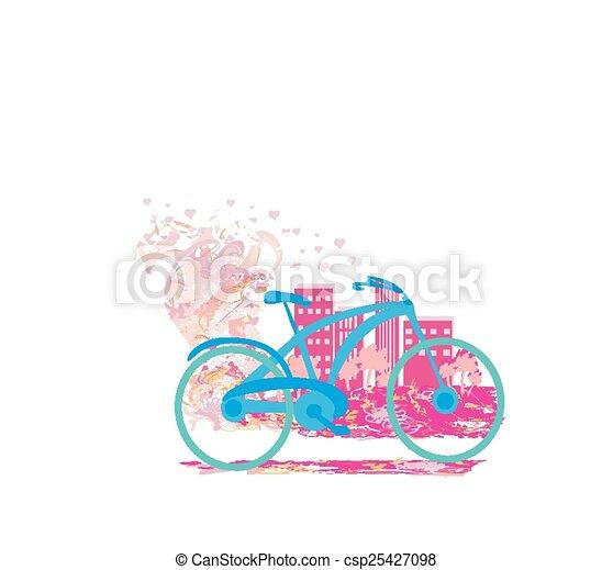Cute card with bike. - csp25427098