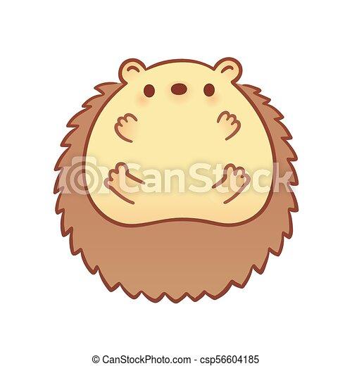 Cute Cartoon Baby Hedgehog Drawing Of Cute Cartoon Baby Hedgehog