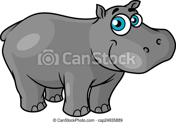 cute cartoon baby hippo with blue eyes and a happy smile suitable rh canstockphoto com Baby Zebra Clip Art baby hippopotamus clipart
