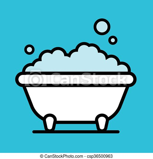 cute cartoon bathtub with a bubble bath of frothy foam clip art rh canstockphoto com bubble bath clipart images bubble bath clipart