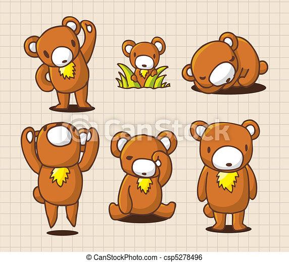 cute cartoon bear - csp5278496