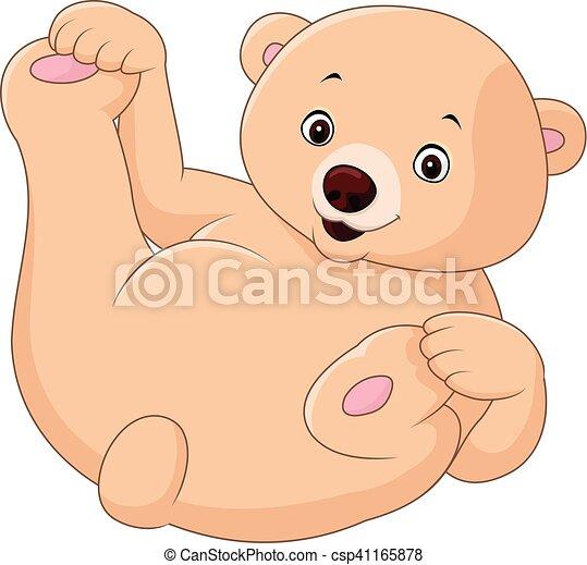 Cute cartoon bear - csp41165878
