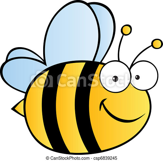 Cute Cartoon Bee - csp6839245