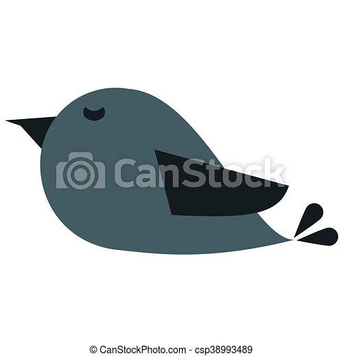 cute cartoon bird icon - csp38993489