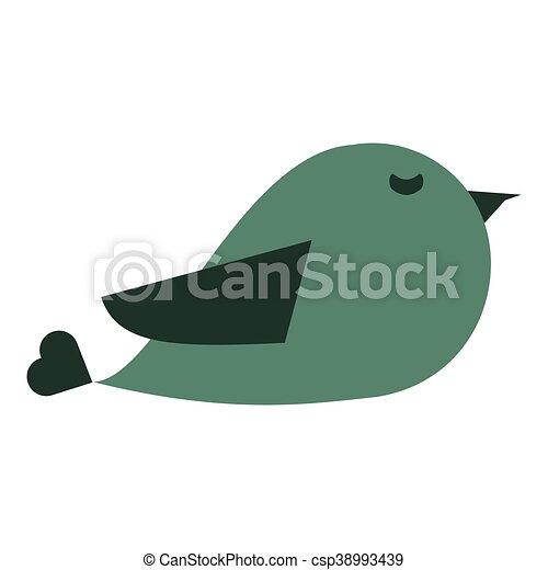 cute cartoon bird icon - csp38993439