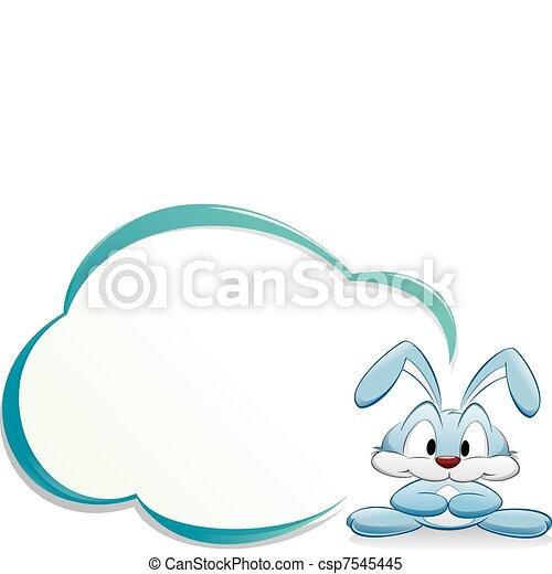Cute cartoon bunny with frame. Cartoon bunny with frame. isolated ...