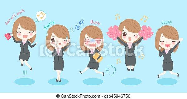 cute cartoon business woman - csp45946750