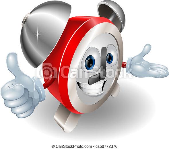 Cute cartoon character alarm clock - csp8772376
