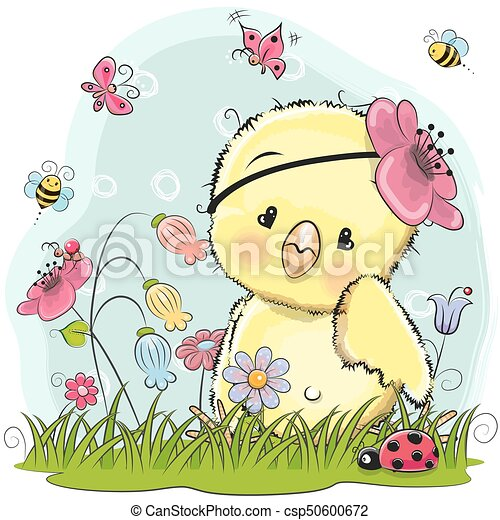 Cute Cartoon Chicken - csp50600672