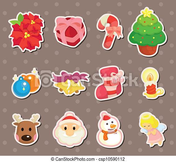 Christmas Clip Art Cute.Cute Cartoon Christmas Element Stickers