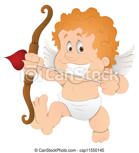 Cute Cartoon Cupid Illustration - csp11550145