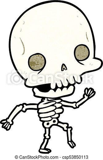 cute cartoon dancing skeleton vector clip art search illustration rh canstockphoto com clip art skeleton bones clipart skeleton head