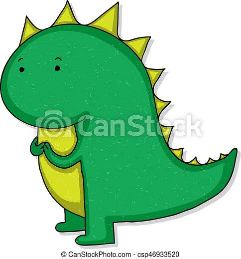 Image of: Little Dino Cute Cartoon Dinosaur Csp46933520 Can Stock Photo Cute Cartoon Dinosaur Funny Childish Cartoon Baby Dinosaur
