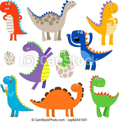 Image of: Clip Art Cute Cartoon Dinosaurs Csp62441431 Can Stock Photo Cute Cartoon Dinosaurs Cute Dinosaurs Baby Cartoon Smiling
