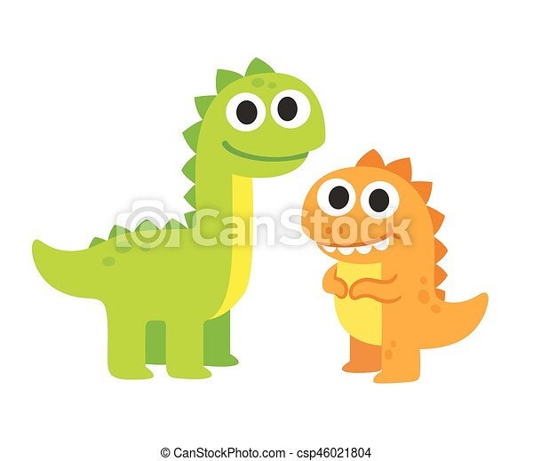 Image of: Clipart Cute Cartoon Dinosaurs Csp46021804 Can Stock Photo Cute Cartoon Dinosaurs Two Cute Cartoon Dinosaurs Vector