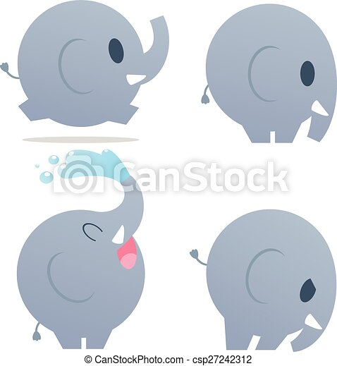 Cute cartoon elephant. vector illustration with simple gradients. 851df45cb