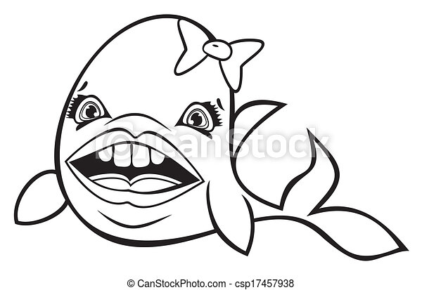 Cute cartoon fish csp17457938