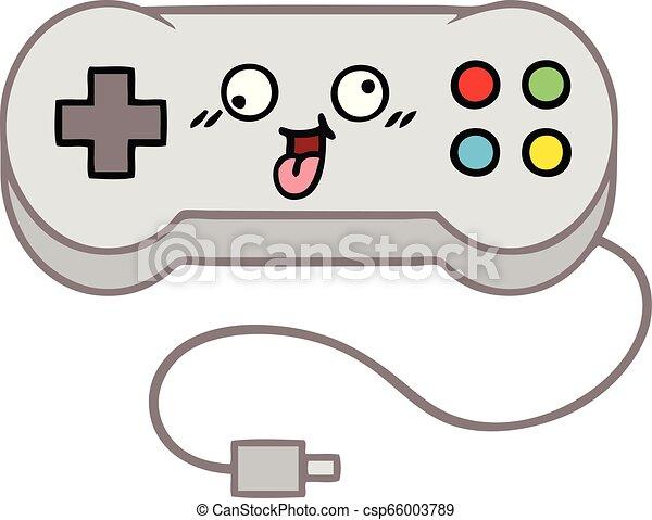 Cute Cartoon Game Controller Cute Cartoon Of A Game Controller Canstock