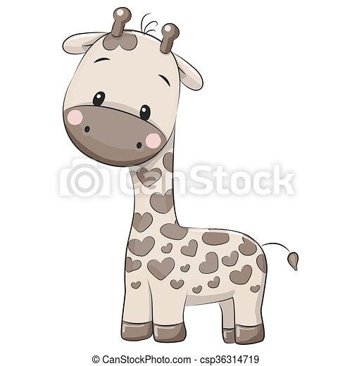Cute Cartoon Giraffe Cute Giraffe Isolated On A White Background