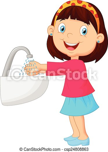 vector illustration of cute cartoon girl washing her hands cleaning clip art free images white window cleaning clip art free