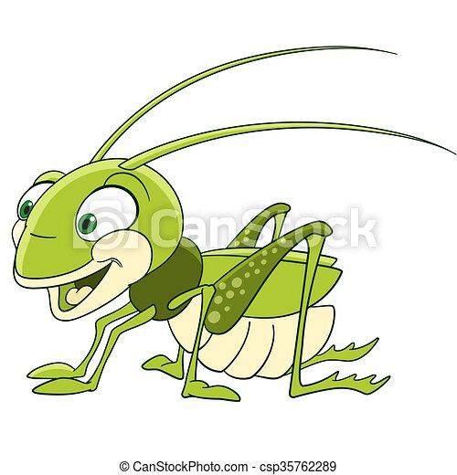 cute cartoon grasshopper - csp35762289
