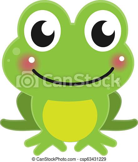 cute cartoon green frog - csp63431229