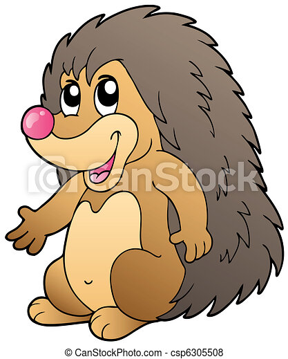 Cute cartoon hedgehog - csp6305508
