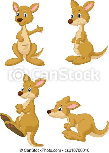 Cute cartoon kangaroo collection se - csp18700010