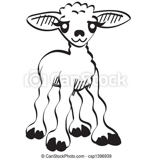 Cute Cartoon Lamb Easter Clip Art Cute Cartoon Lamb Easter Clip Art