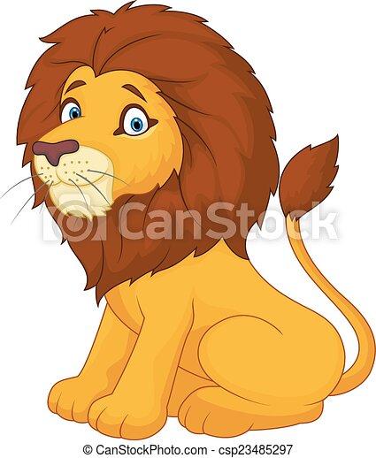 Cute cartoon lion - csp23485297