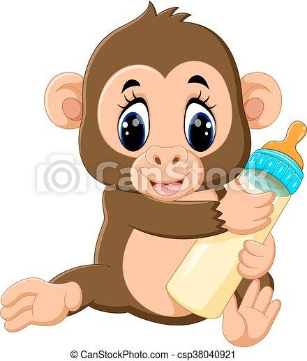cute Cartoon monkey - csp38040921