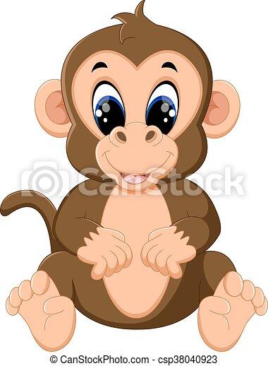cute Cartoon monkey - csp38040923