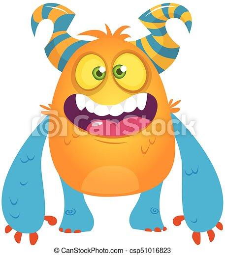 cute cartoon monster vector troll or gremlin character halloween