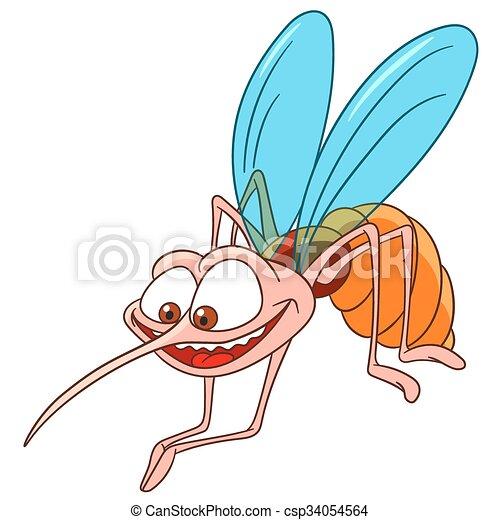cute cartoon mosquito - csp34054564