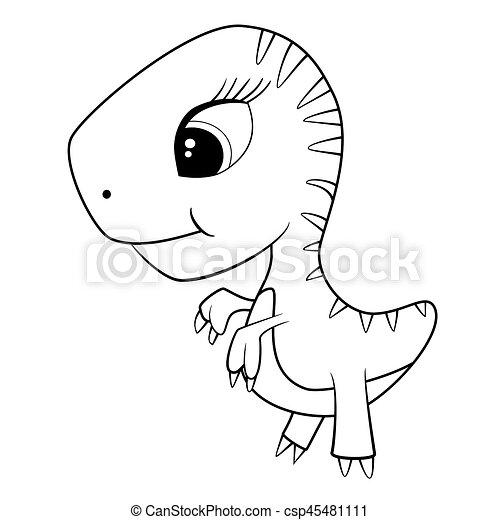 Illustration Of Cute Cartoon Of Baby T Rex Dinosaur