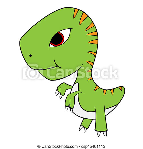 illustration of cute cartoon of baby t rex dinosaur clipart search rh canstockphoto com t rex clipart outline tyrannosaurus rex clipart black and white