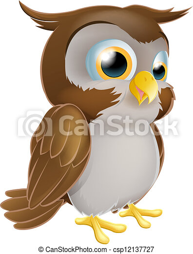 Cute Cartoon owl - csp12137727
