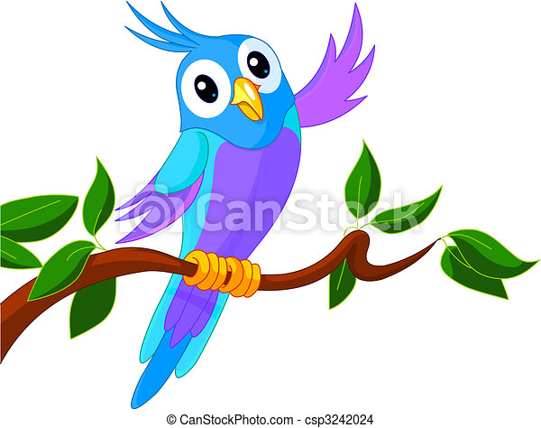 Cute Cartoon Parrot - csp3242024