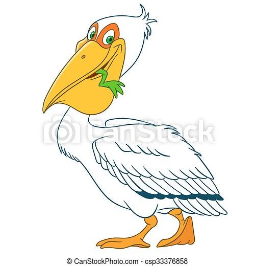 cute cartoon pelican - csp33376858