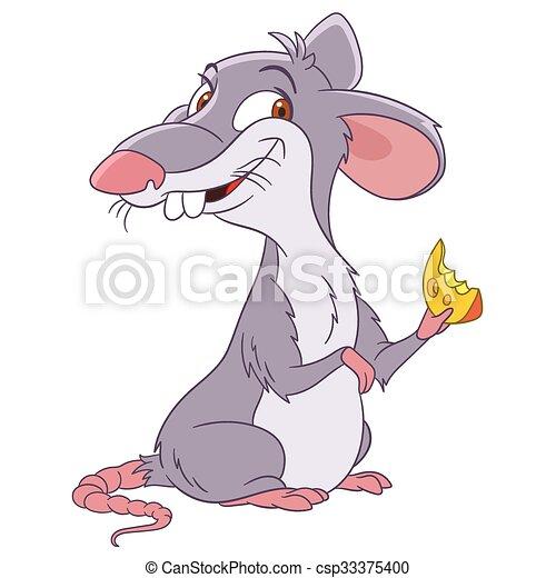 cute cartoon rat - csp33375400