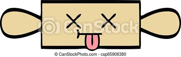 cute cartoon rolling pin - csp65906380