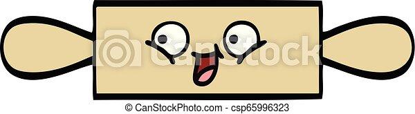 cute cartoon rolling pin - csp65996323