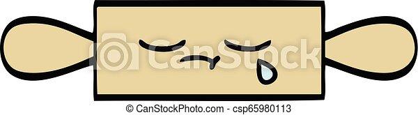 cute cartoon rolling pin - csp65980113