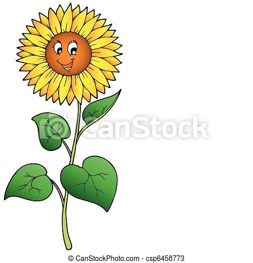Cute Cartoon Sunflower Vector