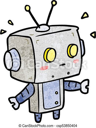 cute cartoon surprised robot vector clipart search illustration rh canstockphoto com robot vector paths robot vector southampton