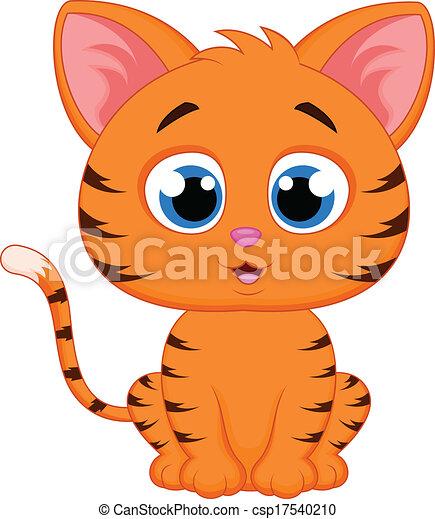 vector illustration of cute cat cartoon rh canstockphoto com cute kitty clipart cute cat clip art free